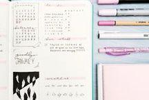 •Bullet•Journal•Inspiration• / • Idéias • Inspiração • Organização •  • Decoração • Planner • Agenda • Bullet Journal • Bujo •