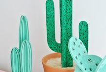 •All•About•Cactus• / • Inspiração • Itens • Cactus • Inspiration • DIY • Party • Decor •