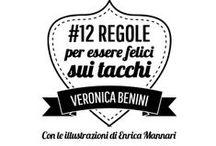 #12Regole: tutti i badge / Ogni badge dell'ebook 12Regole per essere felici sui tacchi, con descrizione e requisiti.