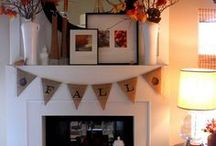 fantel / A fake mantel. No dust and dirt like having a real fireplace, but a mobile place to showcase the seasons etc.!