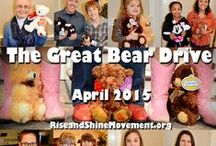 Great Teddy Bear Drive / Rise and Shine Movement's teddy bear drive for sexually abused children. Held during April for Child Abuse Prevention month. Learn more about how you can help!