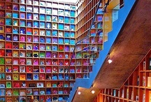 Spaces for Books / Libraries, book shelves, and creative reading nooks!