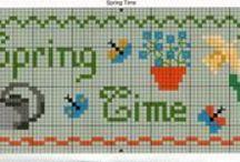 Schemini tratti da Pinterest .. GRILLE GRATUITE Free pattern / Cross stitch broderie models P X