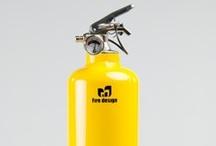 Sleek fire extinguisher in plain designs