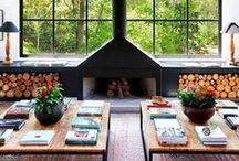 Fireplaces - warmth of hearth and home / Fireplace and mantel decorating ideas.