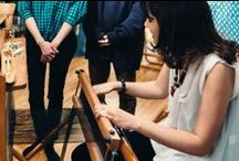 Weaving sessions / Days at the looms, group weaving
