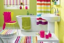 Colorful bathrooms / Creative inspirations for bathrooms in the colors of the rainbow!