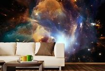 Space Oddity / One of the most intriguing and fresh interior trend draws inspirations from an outer space. Cosmic trend consists lunar, planetary and intergalactic inspired motifs and can rearrange our room into a real spaceship!