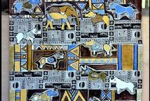 African Wall Art - Endangered, Wildlife / Wall Art - paintings,prints, hand painted wall murals on cloth and inspiration.  For queries, please contact me at: karinsaks@gmail.com. Website: http://karinsaks.wix.com/artkarinsaks