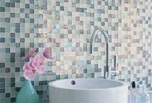 Creative art of decorating. Mosaic Mania! / Tiny pieces of colored glass, stone or other materials could create an unusual effect in our bathroom. Immerse yourself into mosaic mania!