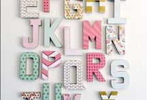 Alphabet of design / Decorative letter patterns and ornamental typography as a charming idea for stressing what's important in your home and in your life.