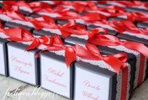 Podziękowania dla gości / Małe pudełeczka oraz ciasteczka dla gości weslenych