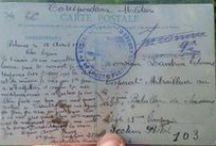 Correspondance Militaire 1GM / Cartes postales anciennes pendant la première guerre mondiale.  / by guepier92