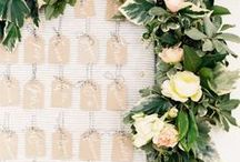 ESCORT cards + TABLE numbers