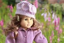 """Knitting Patterns - Doll Clothes / Knitting Patterns for your American Girl Doll. These patterns will work on most other 18"""" dolls also."""