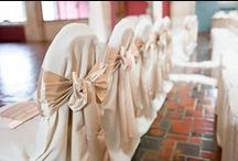 SPL Chair Covers & Sashes / Wedding and special event chair covers and sashes provided by Sitting Pretty Linens, Akron Ohio.
