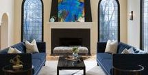 Modern Mediterranean / Lakefront Home in Fox Point, Wisconsin. Interior design by Karen Kempf Interiors  https://www.houzz.com/projects/2348146/modern-mediterranean