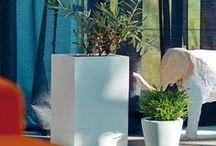 Donice / Designerskie doniczki z bazaltu, stali i HPL. Donice są odporne na wszelkie warunki atmosferyczne.