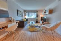 536 W. Addison, Chicago, IL 60613 / Apartments at 536 West Addison in the Lakeview Chicago neighborhood feature hardwood floors & plush carpeting, wall-to-wall windows and large closets. This modern, 5-story apartment building is equipped with elevators, and an inviting lobby.