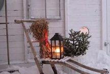 Christmas in Finland / Joulu, joulupukki, porot, joulukuusi, lumi, christmas, santa claus, reindeer, chritmas tree, presents, snow, northern lights