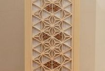 Kumiko, Japanese Traditional Lattice Work / For your classy room decoration. Traditional Japanese woodworking in contemporary style available @artezanatostudio.com.