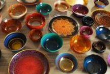 Urushi Glass Ware / Urushi Glass tableware available @artezanatostudio.com.