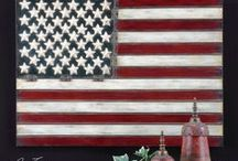 Flag Decor / Add some patriotism to your home with some of these chic, stylish, and creative ideas and pieces.