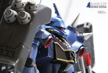 AMS-119 Geara Doga HG Ramba Ral / custom panel line - custom ornaments - custom color scheme - weathering and chipping - custom plasticard details and builder parts - metal parts