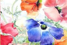 Watercolours of Flowers. / What a way to describe flowers.