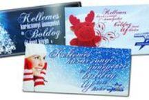 Üdvözlőkártyák, naptárak