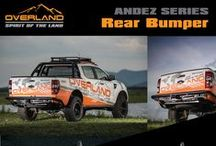OVERLAND PRODUCT / Our Products Rear and Front Bumper, Side step Board,Skid plate, Roof rack and automobile products in Off-road styles Equipments supporting capacity or safety in off-road automobile driving Products OVERLAND engineered to elevate the off-road performance of your vehicle to the next level.