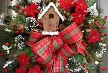 christmas wreaths and wall decors