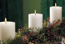 christmas candles, luminaries and lights