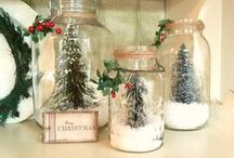christmas jars, glasses, bottles and cans