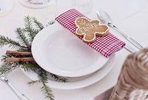 christmas on the table