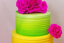 Bright/colourful cakes