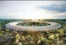 Apple Space Campus a Cupertino / Una navicella spaziale atterrata sulla terra: così Steve Jobs immaginava il nuovo headquarter di Apple a Cupertino, quando nel 2009 chiamò Norman Foster e la Foster+Partners Architects per affidargli lo studio del progetto.
