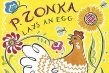 P. Zonka's Egg-Stravaganza / This activity kit is full of interactive complements to P. ZONKA LAYS AN EGG, including the back story on the Ukrainian tradition of pysanky and ideas for hosting a spring egg-stravaganza, complete with coloring sheets, activities, and other egg-cellent ways to help bring this charming spring-time story to life for young readers.               Cock-a-doodle-doo!