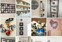 Photo Display and Style. / The way photographs can be displayed in the home in keeping with people's style.