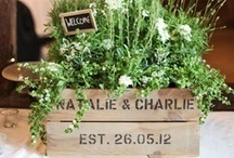 Wedding Crates / Personalised wooden wedding crates. Use as props on the day and then plant them up in the garden afterwards as a lasting memento of your special day.