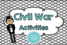 Civil War Activities / This board is dedicated to teachers who want to share their Civil War resources.  Be sure to add the price of the activity in your description.  Included is a Bull Run Novel unit.