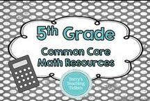 5th Grade Common Core Math Resources / This board contains resources and ideas I have either created or found that contain math resources for the Common Core 5th grade standards.