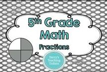 5th Grade Math - Fractions / This board contains ideas, resources, and activities for fractions for 5th grade math.