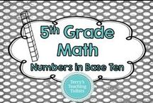5th Grade Math - Numbers in Base Ten / This board contains ideas, resources, and activities for numbers in base ten for 5th grade math.