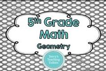 5th Grade Math - Geometry / This board contains ideas, resources, and activities for geometry for 5th grade math.