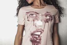 t-shirt donna / Modelli prodotti,tinti,serigrafati,e arricchiti con accessori.