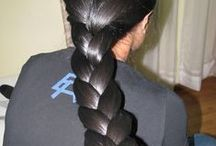 Thick long hair braids / keeping your hair in a braid is best way to keep your hair neat and tidy. Additionaly, it is comperatively safe as the hair in case of a high aligned braid or twin side braids, so that the static electric field of the hair, remains away from throat, so that it does not attract excessive mucous or phlegm in the throat thereby keeping your voice clear and quaver free.
