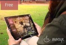 Free PSD Tablet MockUps / Real photo PSD tablet mockups
