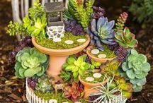 Fairy Garden Fun / We love ideas for fairy gardens.