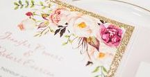 Romantic stationery / Romantic themed invitations and Thank you stationery